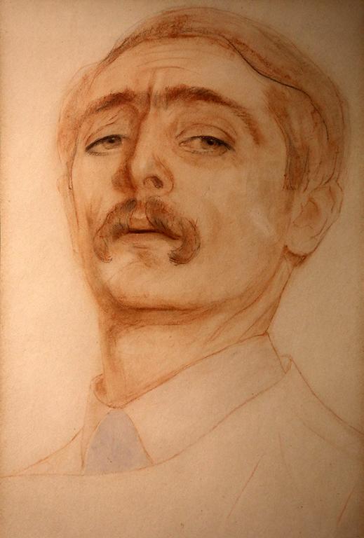 <p>Преслав Кършовски, Автопортрет 1929 г.</p>