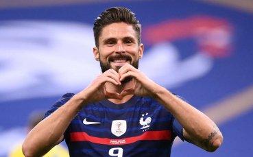 Жиру задмина Платини по голове за Франция