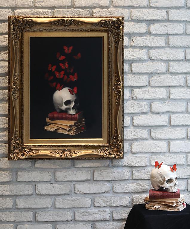 <p>Духът израства чрез философия, маслени бои/платно The Mind Grows through Philosophy, oil paint on canvas</p>