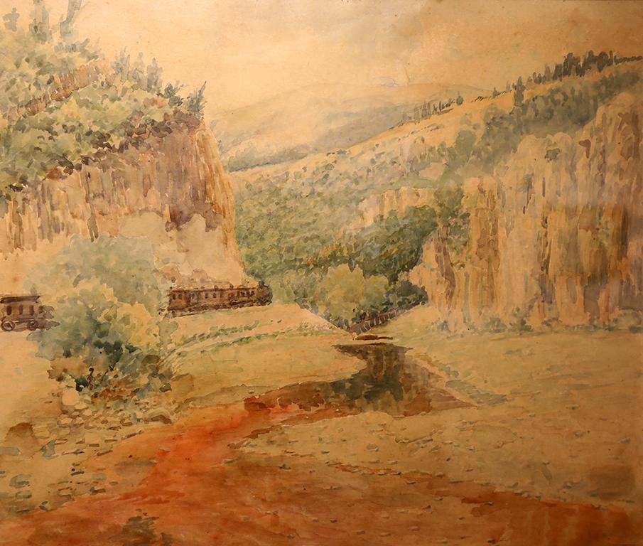 <p>Марин Устагенов (1872 &ndash; 1937)</p>  <p>Река Струма при гара Земен, 1910/1920 акварел, хартия</p>