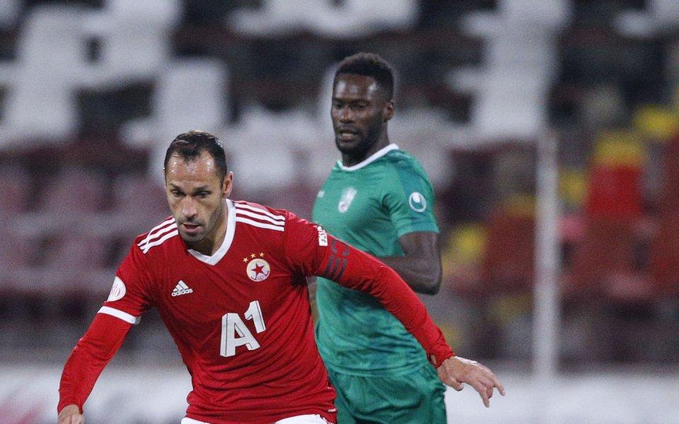 Защитникът на ЦСКА Петър Занев бе разочарован от равенството 1:1