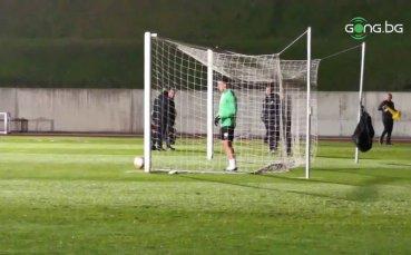 Официалната тренировка на Лудогорец преди мача с Антверп