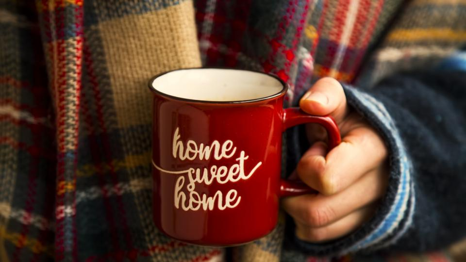 есен зима уют кафе чай