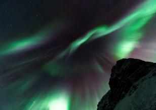Вижте кадри на красивото Северно сияние над Лапландия