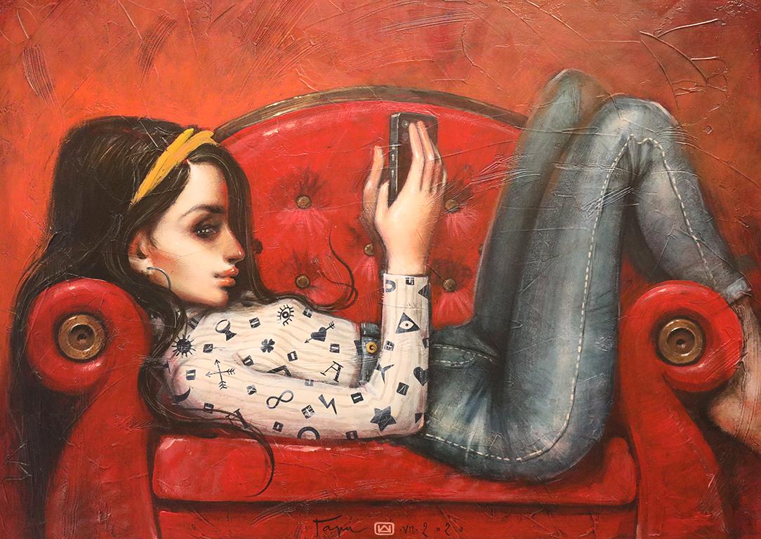 <p><strong>На дивана</strong></p>  <p>Той показва младите хора и техния ежедневен начин на живот. Те са красиви, модерно облечени, заобиколени от всички най - последни марки храни, телефони и дрехи, които са знакови за нашето съвремие и които показват определен статус в обществото.</p>