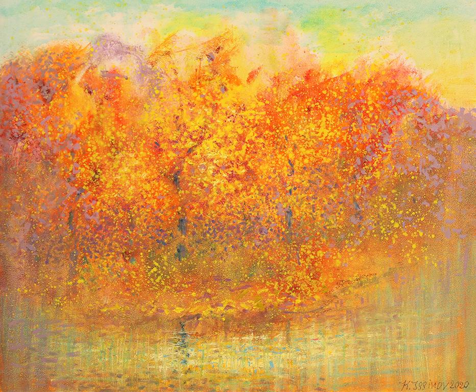 <p>Златна есен, 2020 г, маслени бои, платно</p>