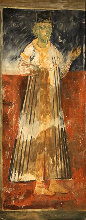 <p>Николай Ростовцев (1898-1988), Копие на ктиторския портрет на втория син на Хаджи Василий от Ловеч, манастира Зограф, 1937 г., маслени бои, платно</p>