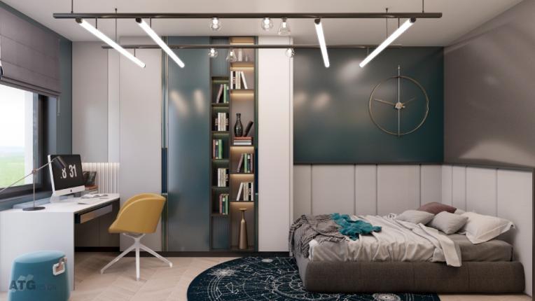 Стилна спалня за тийнейджър в няколко стъпки