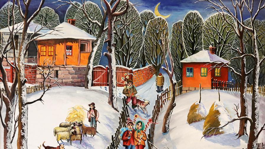 """""""Зима на село"""" от Димитър Вецин"""
