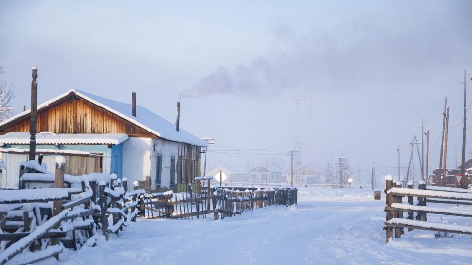 Оймякон Русия сняг зима студ природа