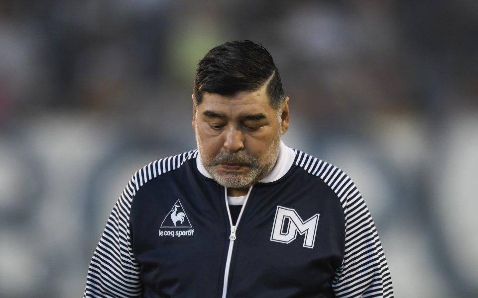 Лошите новини в семейството на легендарния Диего Марадона нямат край.