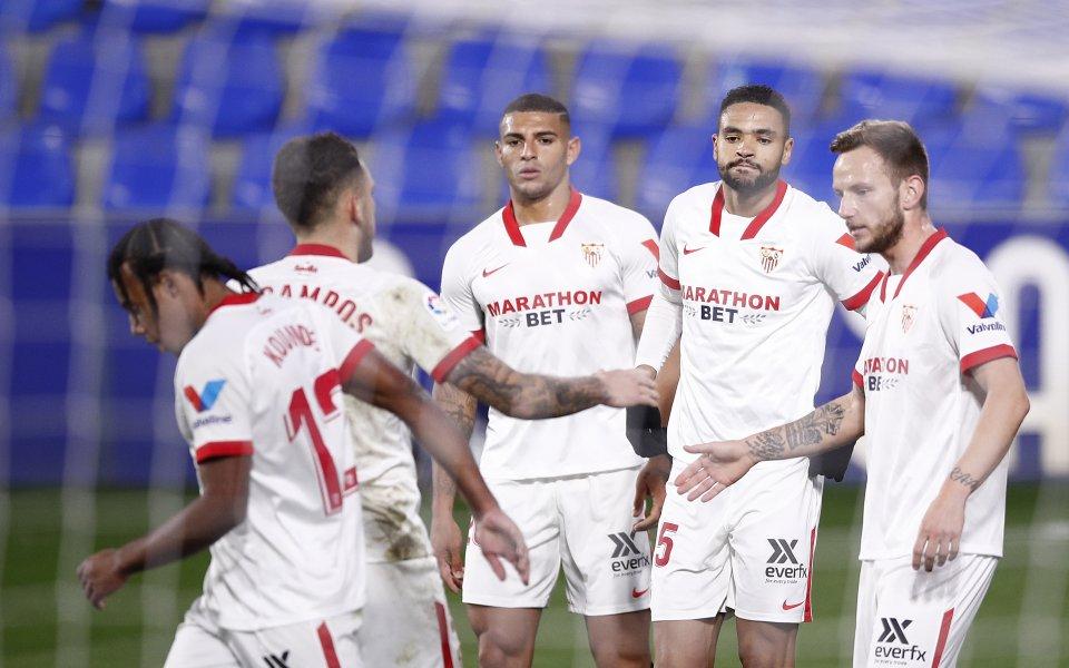 Отборът на Севиля надви Уеска с минималното 1:0 в мач