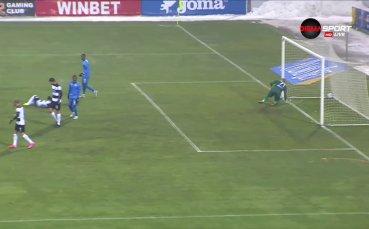 Левски вкара топката в мрежата, но гол нямаше