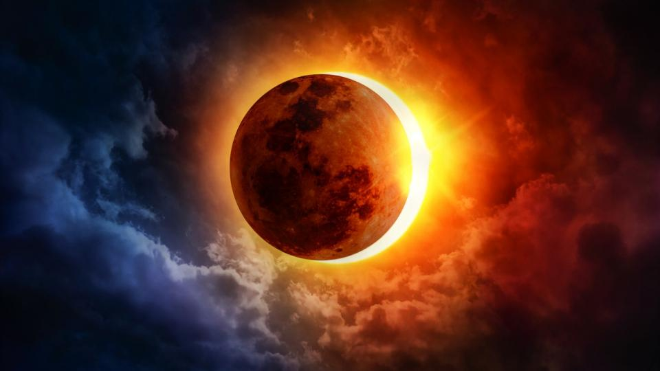 слънчево затъмнение слънце