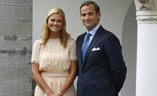 Принцеса Мадлен от Швеция и Йонас Бергстрьом
