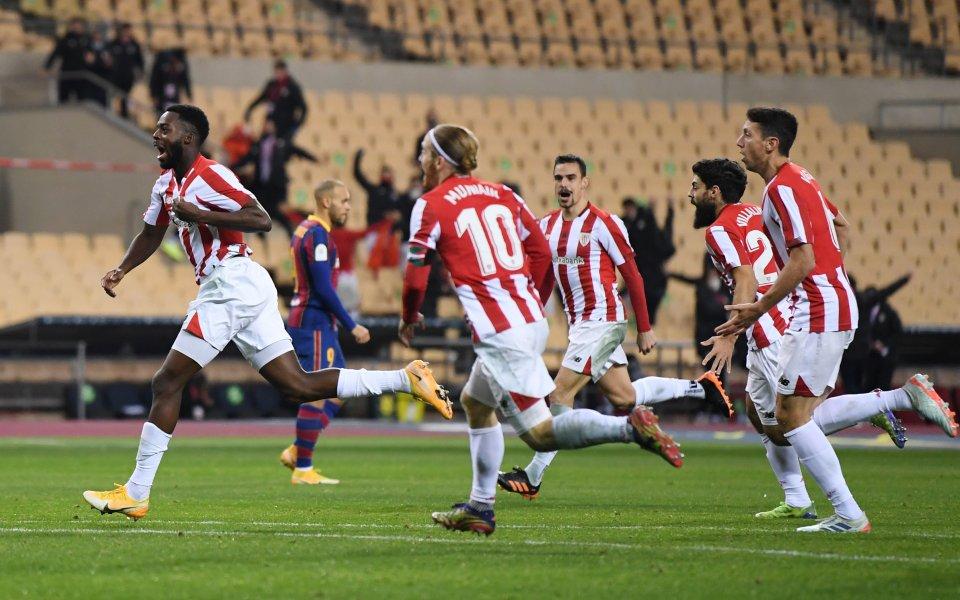 Атлетик Билбао спечели Суперкупата на Испания, побеждавайки Барселона с 3:2