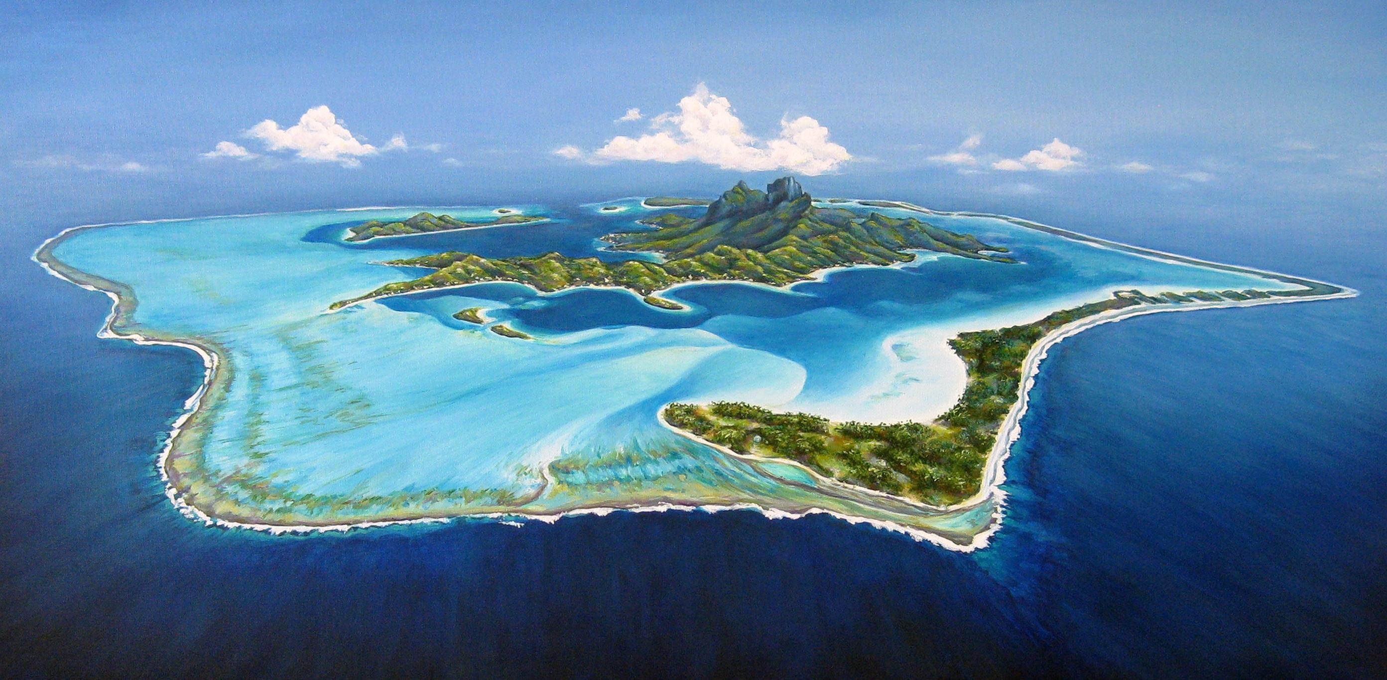 <p>Бора Бора, с тюркоазени лагуни, коралови рифове и надводни бунгала, този малък остров в южната част на Тихия океан е сочен за рая на Земята.</p>