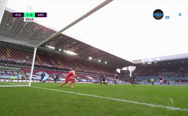 Астън Вила - Арсенал 1:0 /първо полувреме/