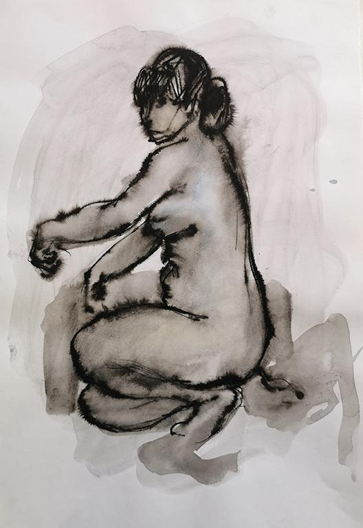 <p>Светлин Русев, Модел, см. техника/хартия</p>