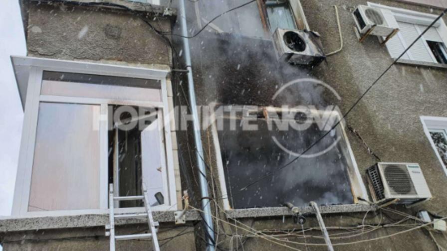 Пожар в блок в Пловдив, наложи се евакуация на жителите