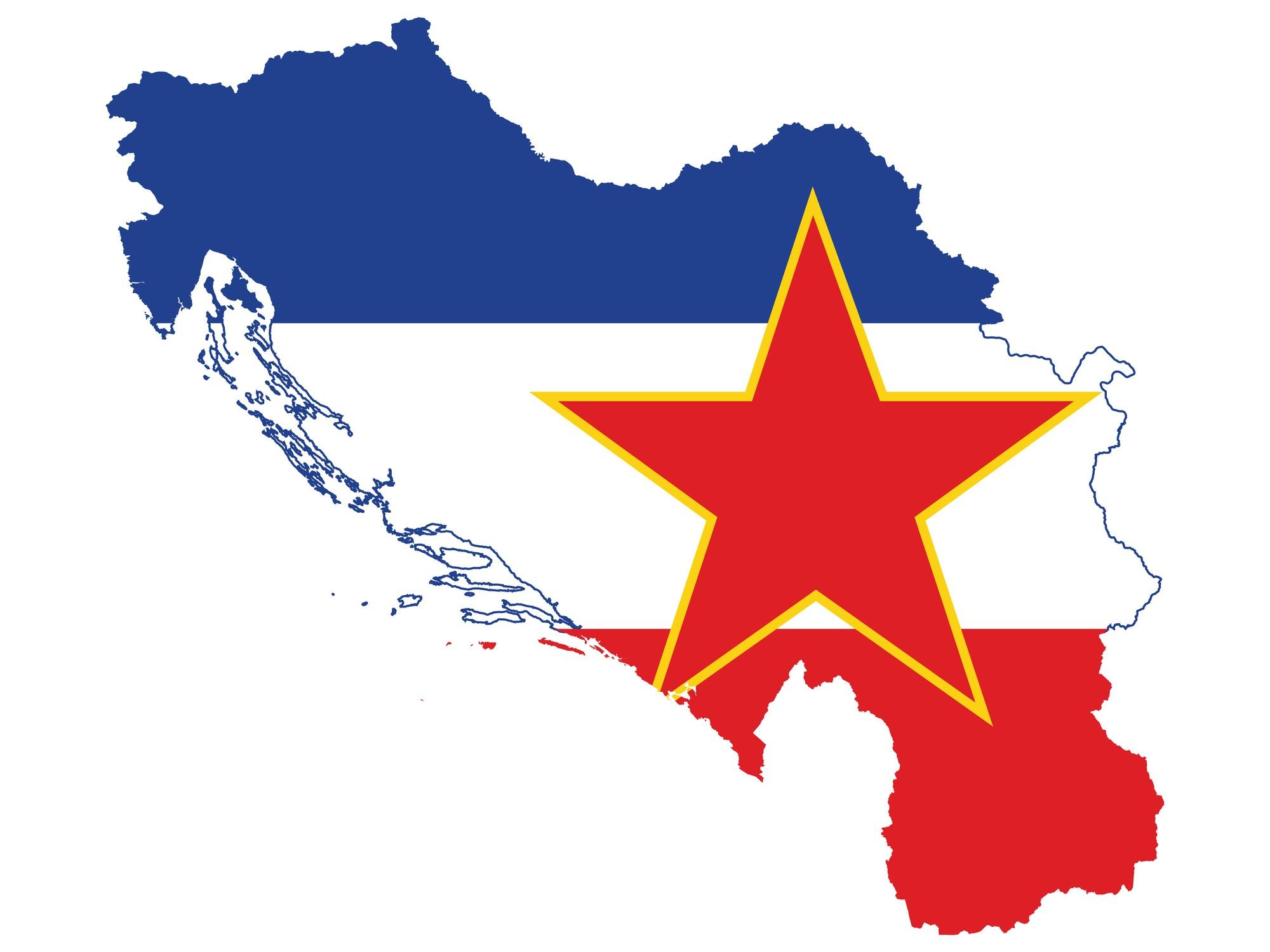 <p><strong>Югославия</strong></p>  <p>Югославия (Земя на южните славяни) се намираше в западно-централния Балкански полуостров. Някога част от Австро-Унгарската империя, Югославия е създадена за първи път през 1918 г., но се нарича Кралство на сърби, хървати и словенци. Става Кралство Югославия през 1929 г. След Втората световна война монархията е разпусната и страната става комунистическа, под управлението на Йосип Тито.</p>