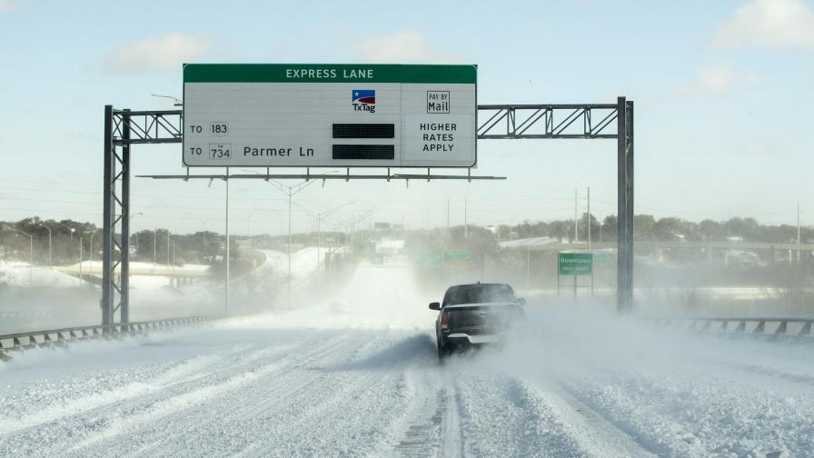 В южен щат като Тексас също падна много сняг