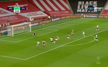 Арсенал - Манчестър Сити 0:1 /първо полувреме/