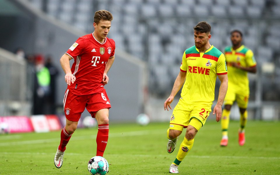 Байерн Мюнхен и Кьолн играят при 2:1 в мач от