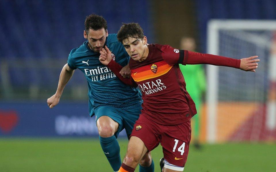 Рома и Милан играят при резултат 0:1в голямото дерби на