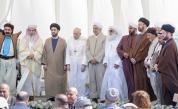 Папа Франциск с други духовници в Ур, родния град на Авраам