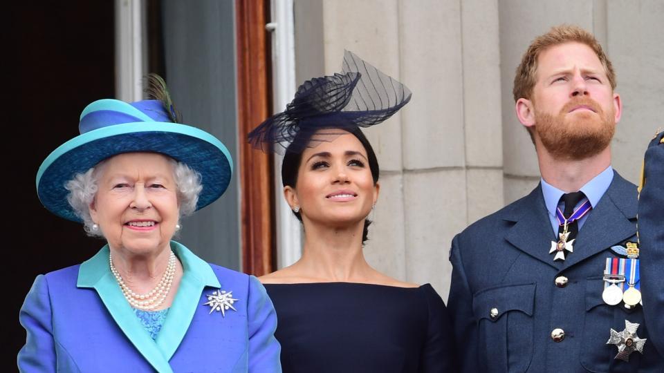 принц Хари Меган Маркъл кралица Елизабет Втора