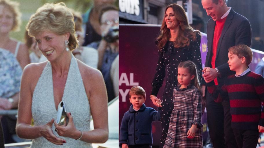 Децата на Кейт Мидълтън и принц Уилям с трогателен жест към своята баба, принцеса Даяна