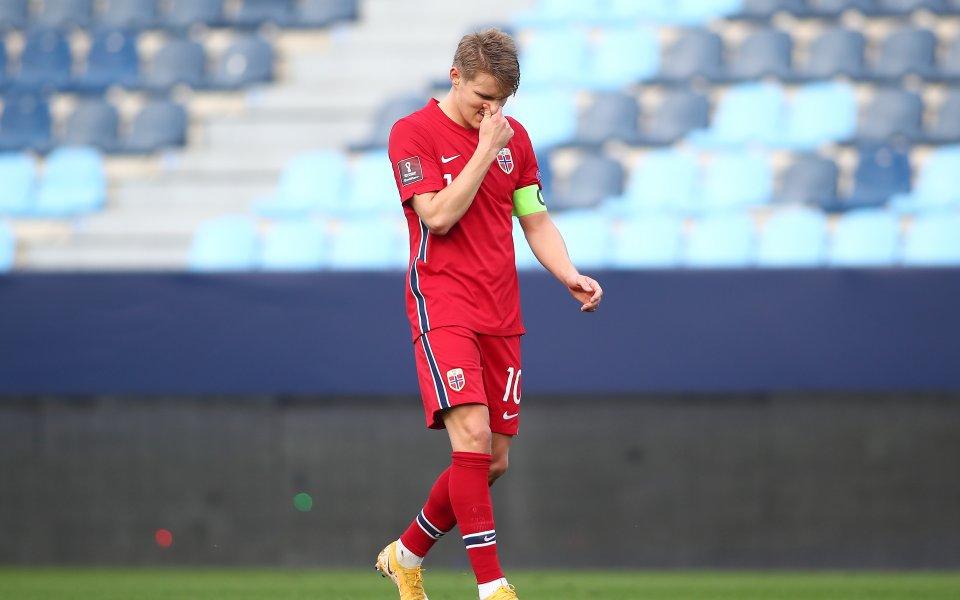 Английският Арсенал ще бъде щастлив да задържи халфа Мартин Йодегаард