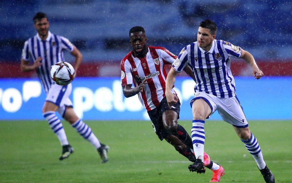 Атлетик Билбао и Реал Сосиедад играят при 0:1във финала за