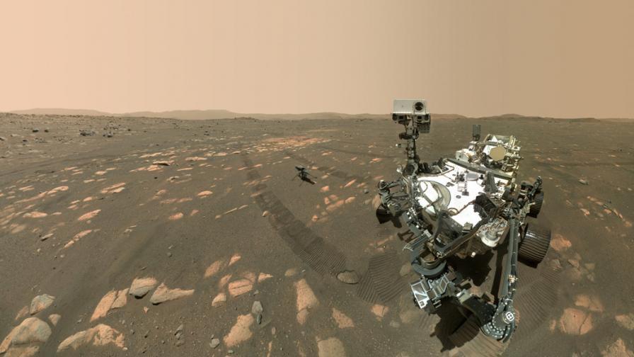 Новият марсоход с първи анализ на времето на Марс