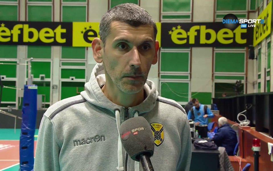 Треньорът на Хебър - Александър Попов, коментира победата на неговия