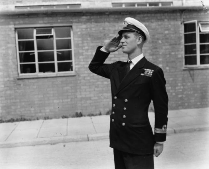 <p>На посещение в училището на Кралските военноморски сили, юли 1947 г.</p>