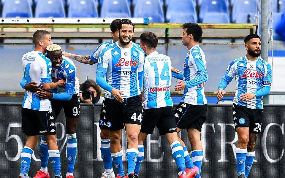Отборът на Наполи успя да спечели с 2:0 при гостуването