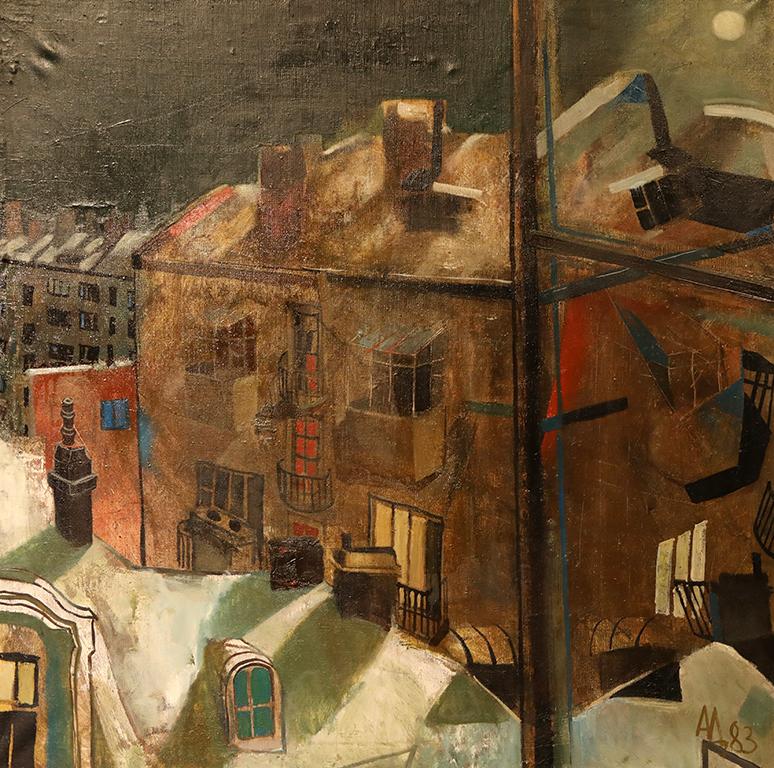 <p>Зимна нощ в София, 1983 г.</p>