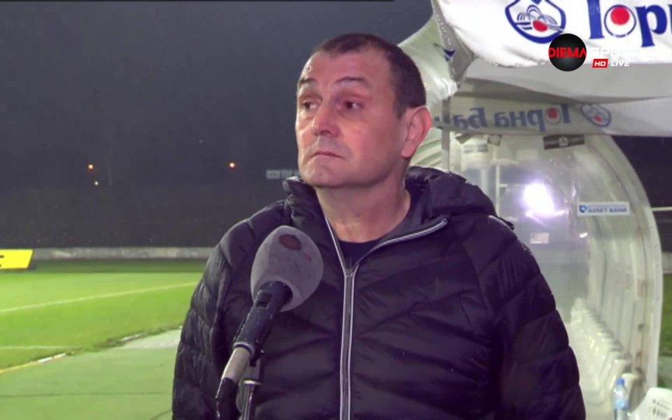 Старши треньорът на Славия Златомир Загорчич отдаде заслуженото на тима