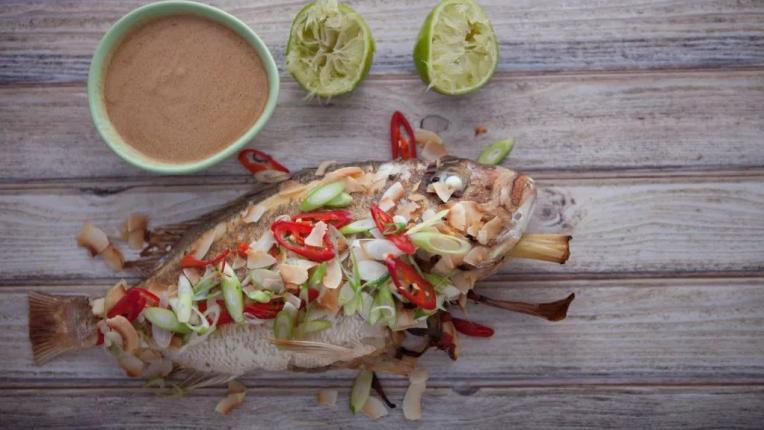печена риба по балийски рецепта