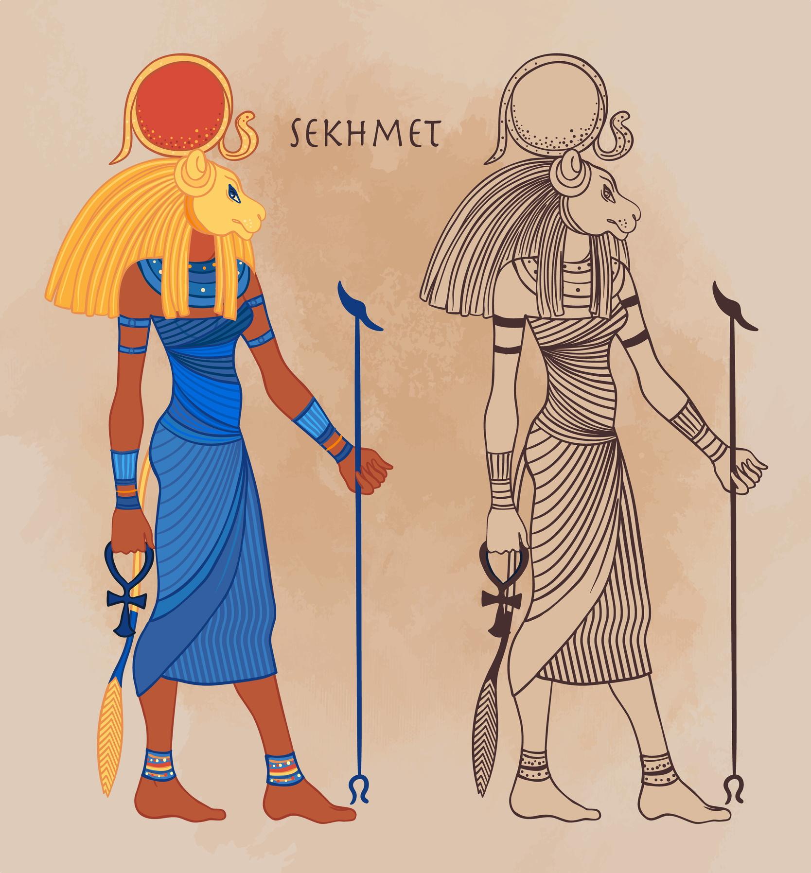 <p><strong>Сехмет &ndash; богиня на войната, разрушението, споровете и изцелението &ndash; Водолей</strong></p>  <p>Родените под знака на Сехмет обикновено са весели и приказливи хора, те също са честни и чувствителни характери. Неприятните им черти са нетърпеливост и фактът, че лесно се обиждат.</p>