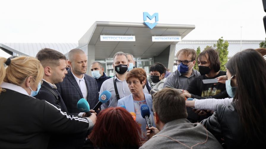 Инцидент в метрото на летище София