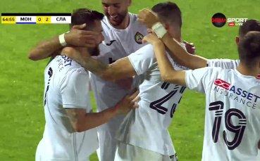 Макрилос заби втори гол във вратата на Монтана за Славия