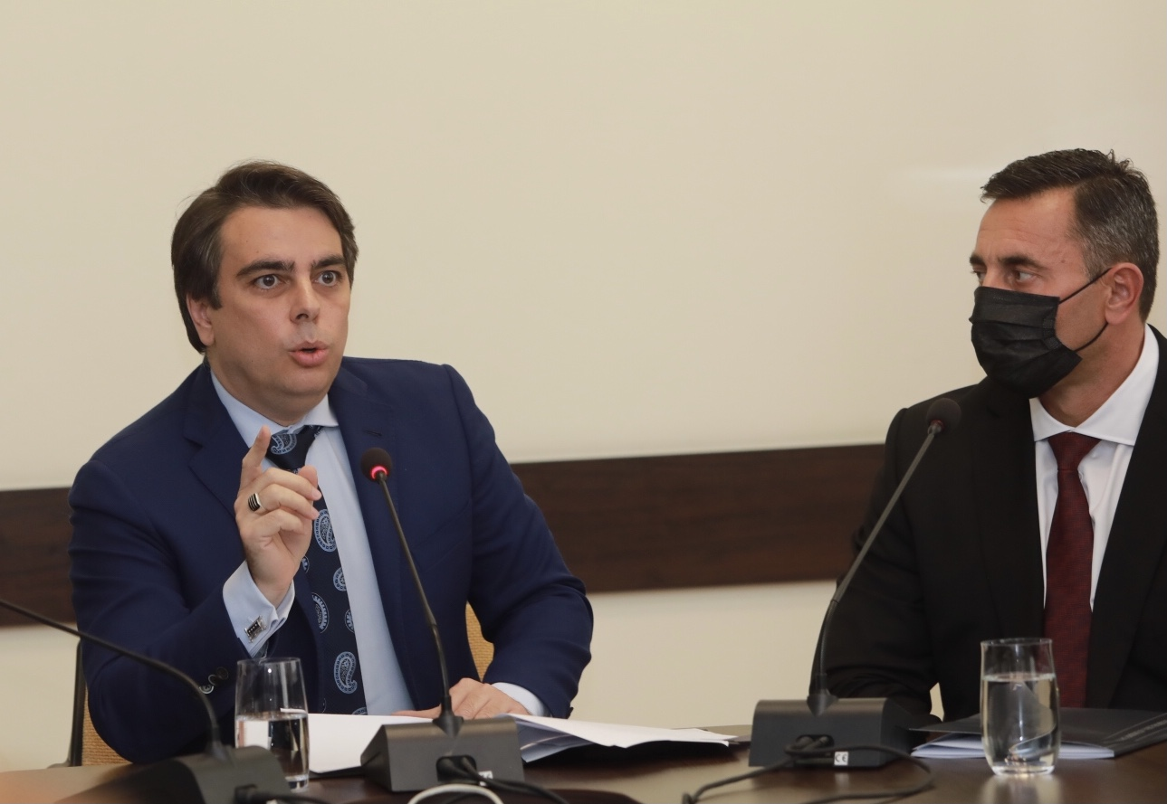 <p>Брифинг министъра на финансите Асен Василев</p>