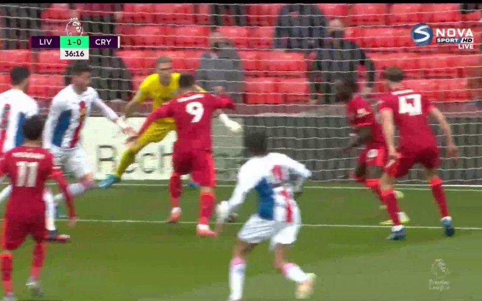 В 36-ата минута Садио Мане изведе Ливърпул напред в резултата