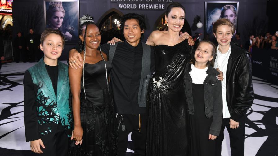 Анджелина Джоли ще трябва да раздели попечителството над 5 от 6-те ѝ деца с баща им Брад Пит