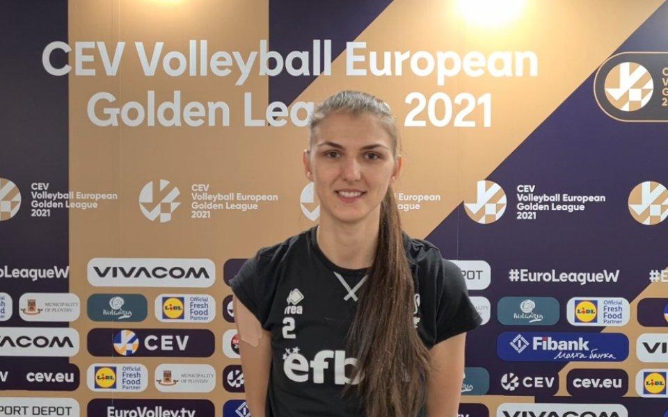 Центърът на женския ни национален отбор по волейбол Нася Димитрова