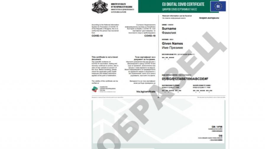 Кацаров утвърди образец на Цифров COVID сертификат
