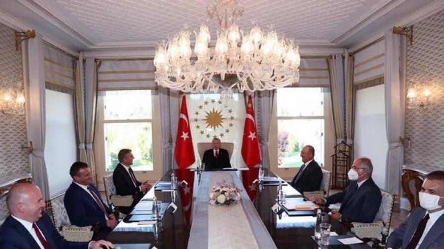 Ердоган прие делегацията на ДПС, водена от Карадайъ